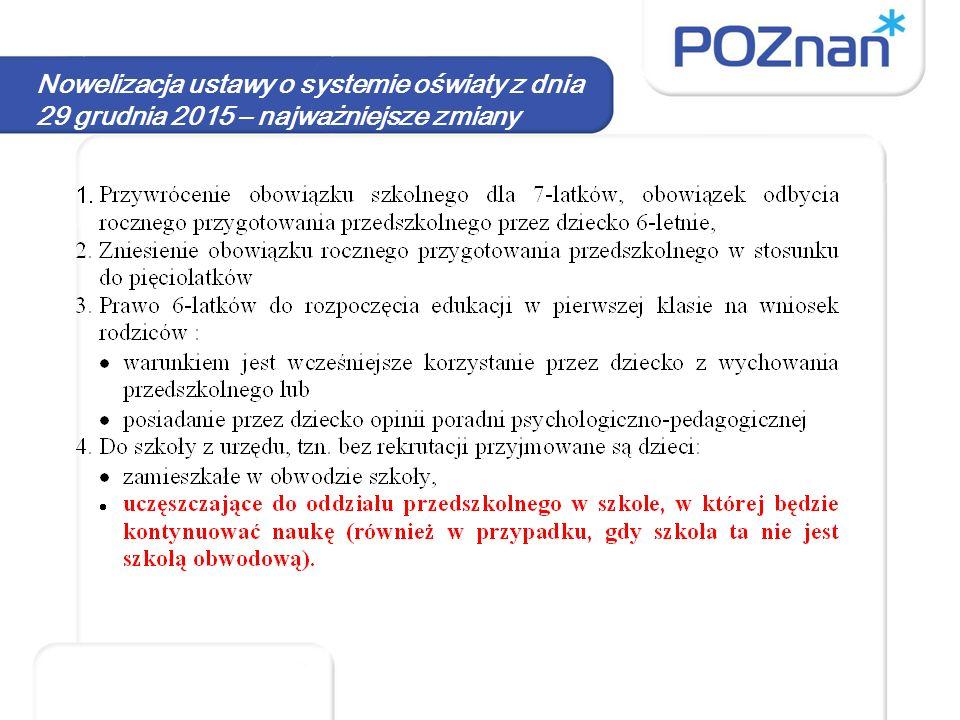 Rekrutacja oddziały przedszkolne Kryteria – uchwała Rady Miasta Poznania