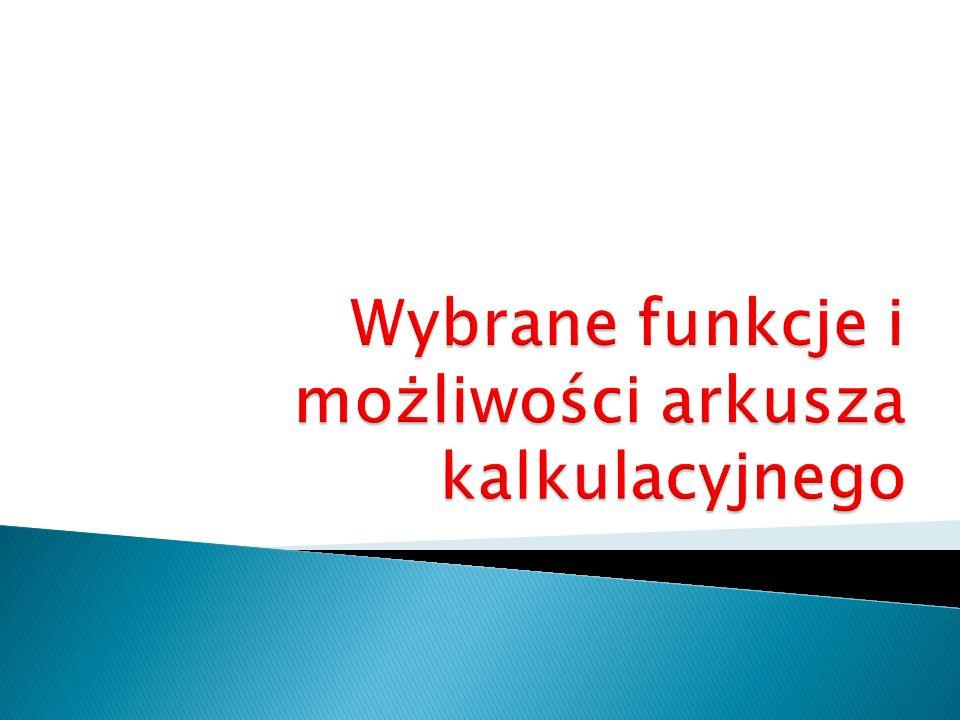 Ćwiczenie 1.Otwórz plik Lista obecności.xls.
