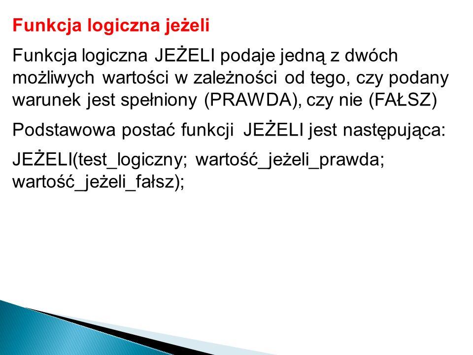 Ćwiczenie 1.Otwórz plik Wyniki.xls.