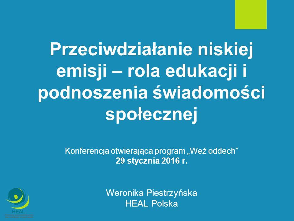 HEAL - kim jesteśmy i co robimy.Jakość powietrza w Polsce na tle UE.