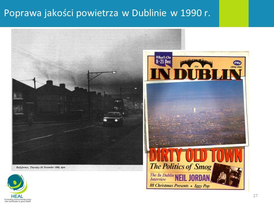 27 Poprawa jakości powietrza w Dublinie w 1990 r.