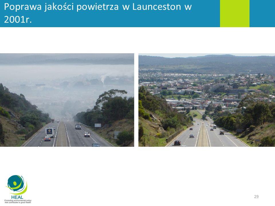 Poprawa jakości powietrza w Launceston w 2001r. 29