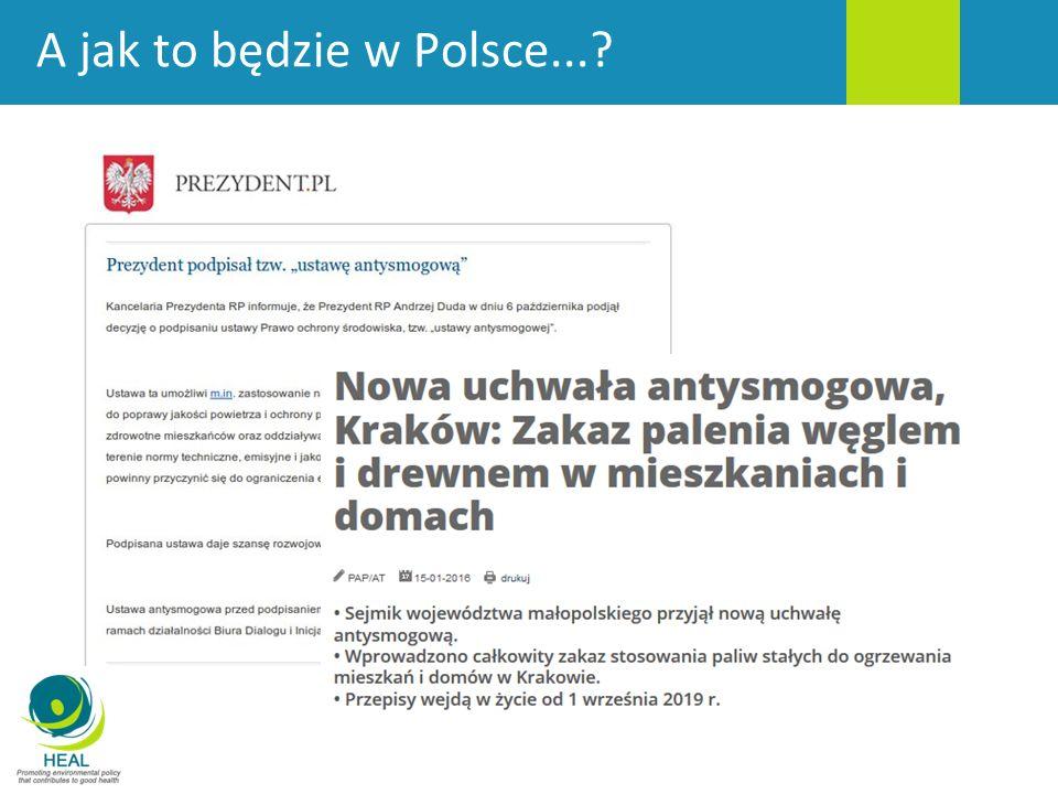 A jak to będzie w Polsce...?