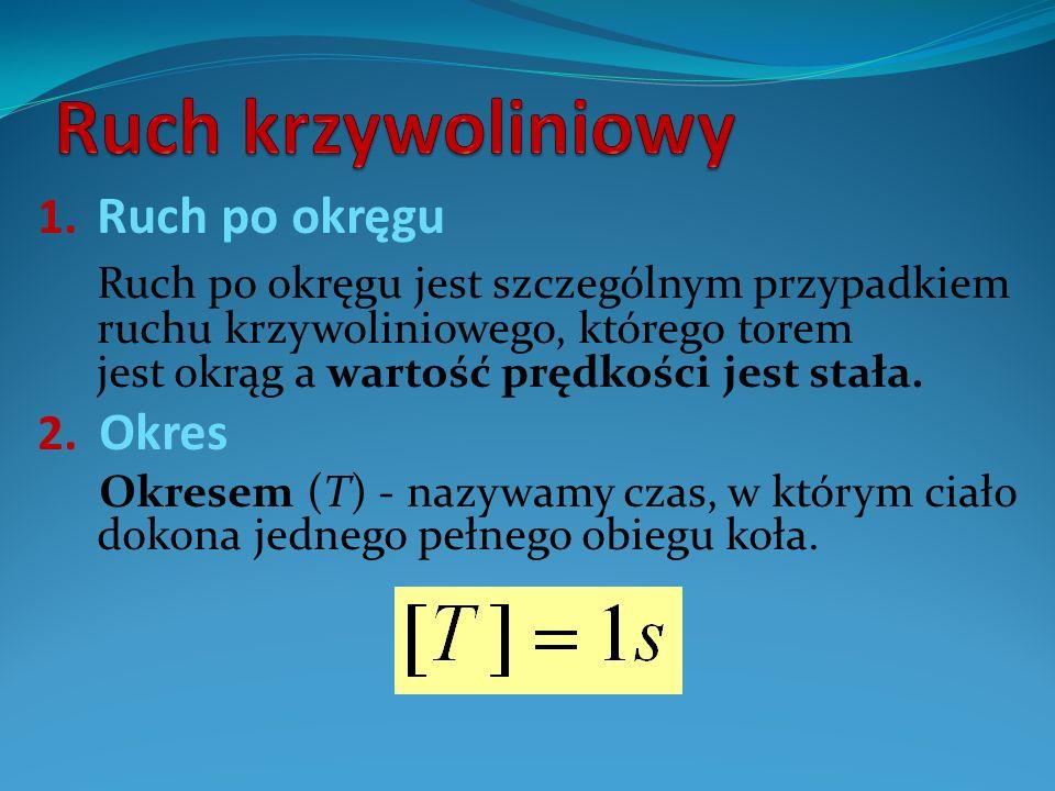 3.Częstotliwość Częstotliwość f – jest to liczba okrążeń przypadających na jedną sekundę.