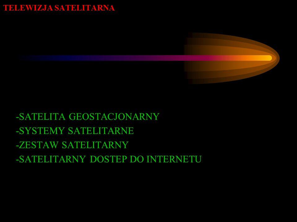 TELEWIZJA SATELITARNA -SATELITA GEOSTACJONARNY -SYSTEMY SATELITARNE -ZESTAW SATELITARNY -SATELITARNY DOSTEP DO INTERNETU