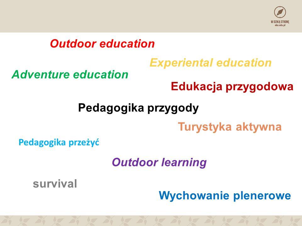 Pedagogika przeżyć Pedagogika przygody Outdoor education Adventure education Outdoor learning Edukacja przygodowa Wychowanie plenerowe Turystyka aktyw