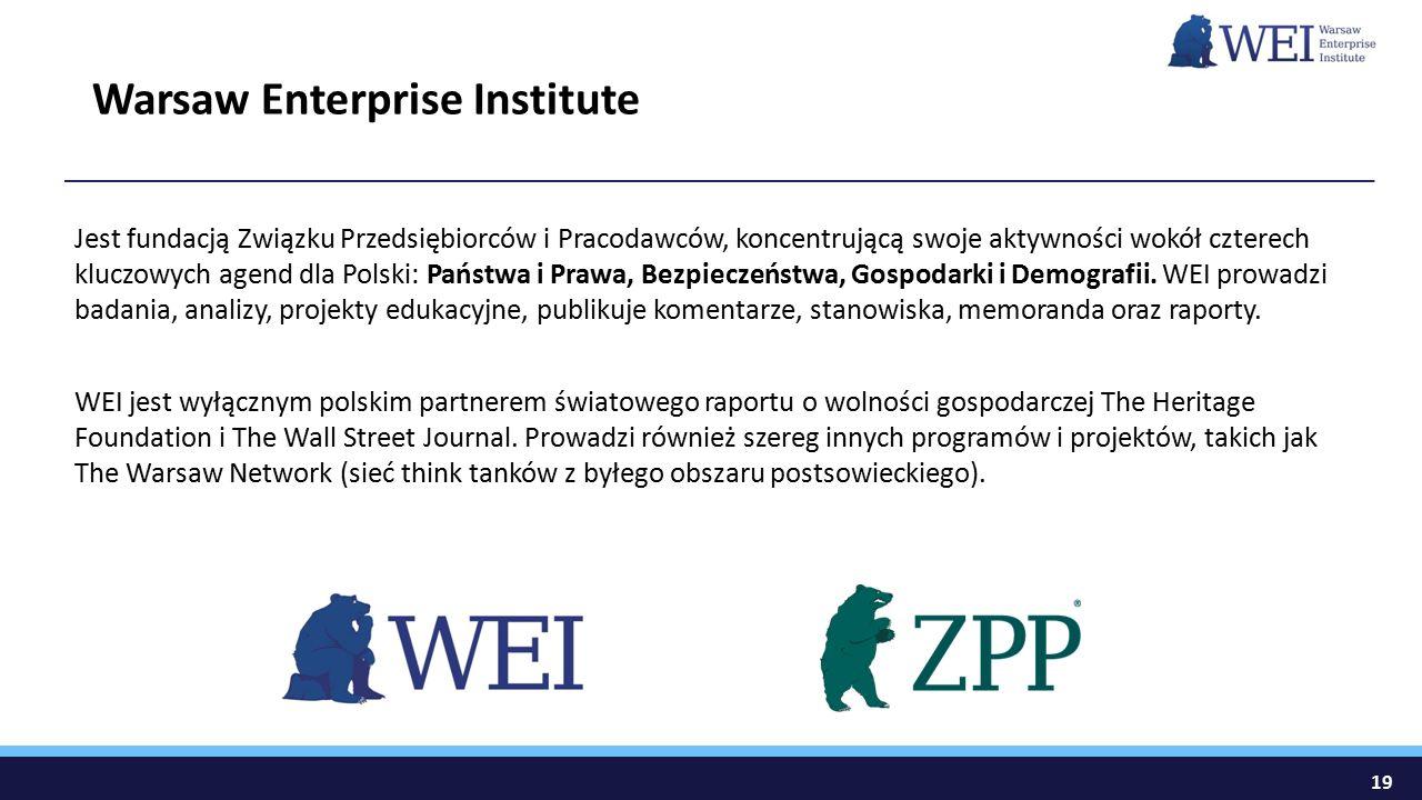 Jest fundacją Związku Przedsiębiorców i Pracodawców, koncentrującą swoje aktywności wokół czterech kluczowych agend dla Polski: Państwa i Prawa, Bezpieczeństwa, Gospodarki i Demografii.