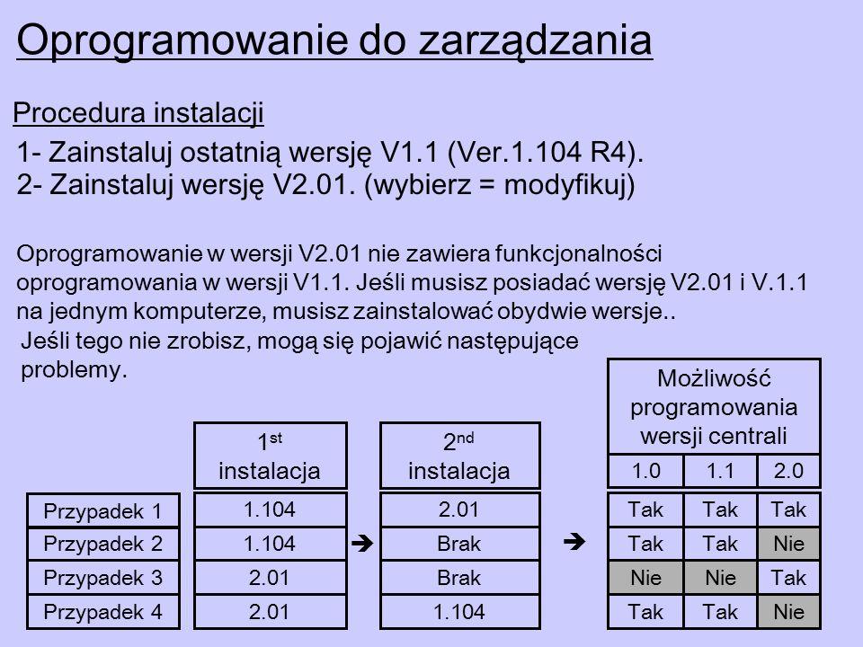 1- Zainstaluj ostatnią wersję V1.1 (Ver.1.104 R4).