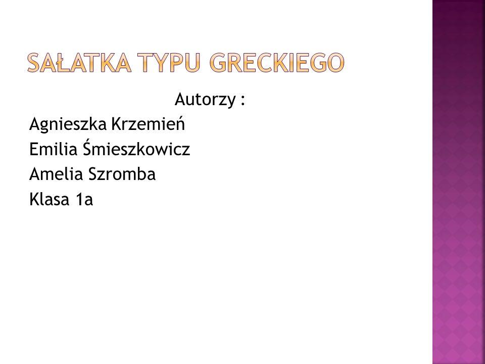 Autorzy : Agnieszka Krzemień Emilia Śmieszkowicz Amelia Szromba Klasa 1a