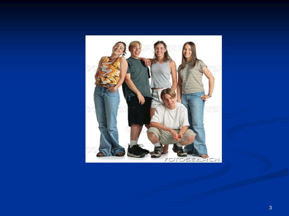 4 Adolescencja Okres adolescencji (wiek dorastania) trwa od 11- 12 r.ż.