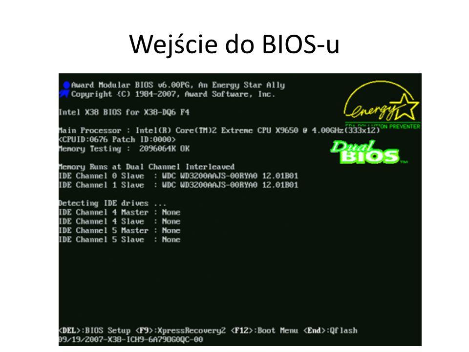 Wejście do BIOS-u