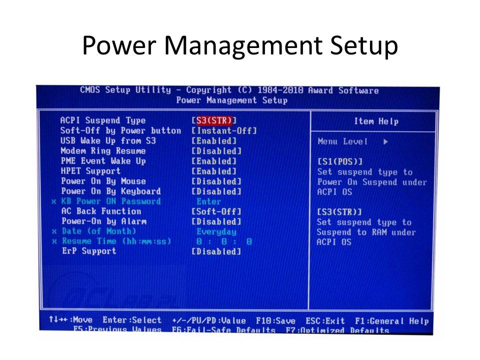 Power Management Setup