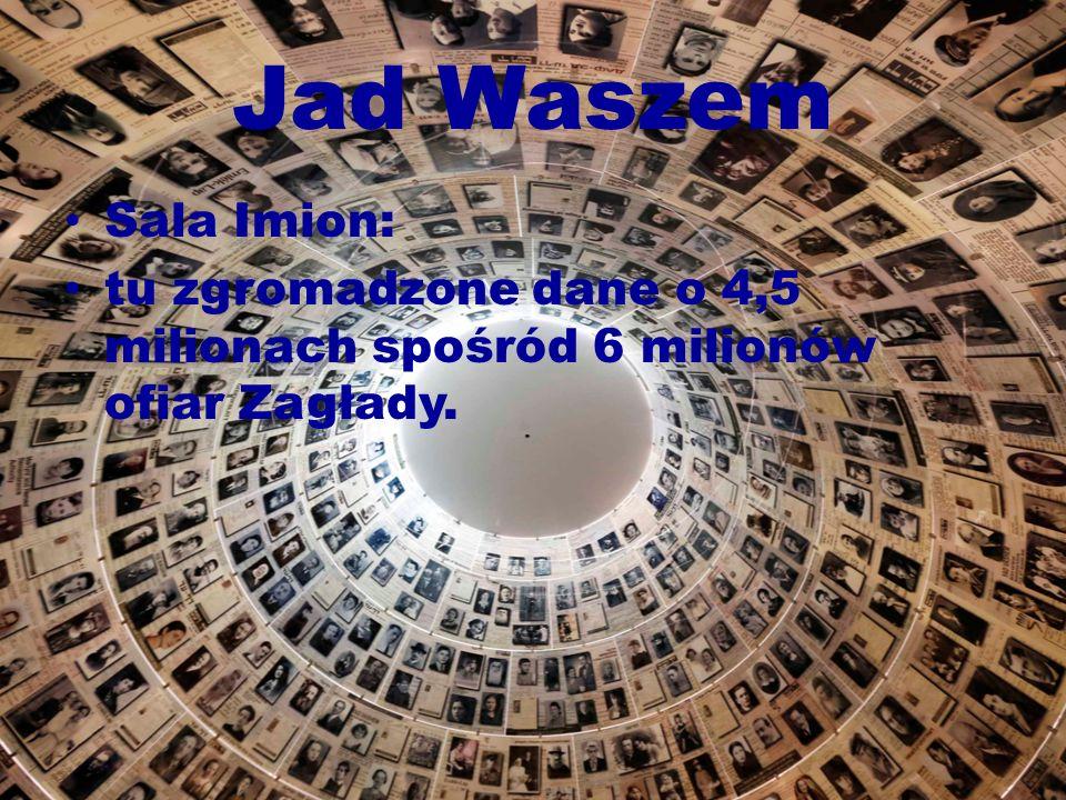 Jad Waszem Sala Imion: tu zgromadzone dane o 4,5 milionach spośród 6 milionów ofiar Zagłady.