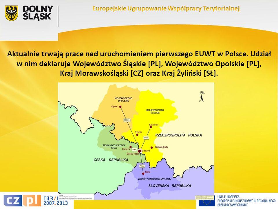 10 Aktualnie trwają prace nad uruchomieniem pierwszego EUWT w Polsce.