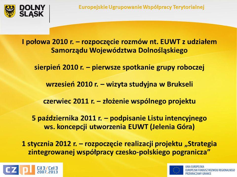 12 I połowa 2010 r. – rozpoczęcie rozmów nt.