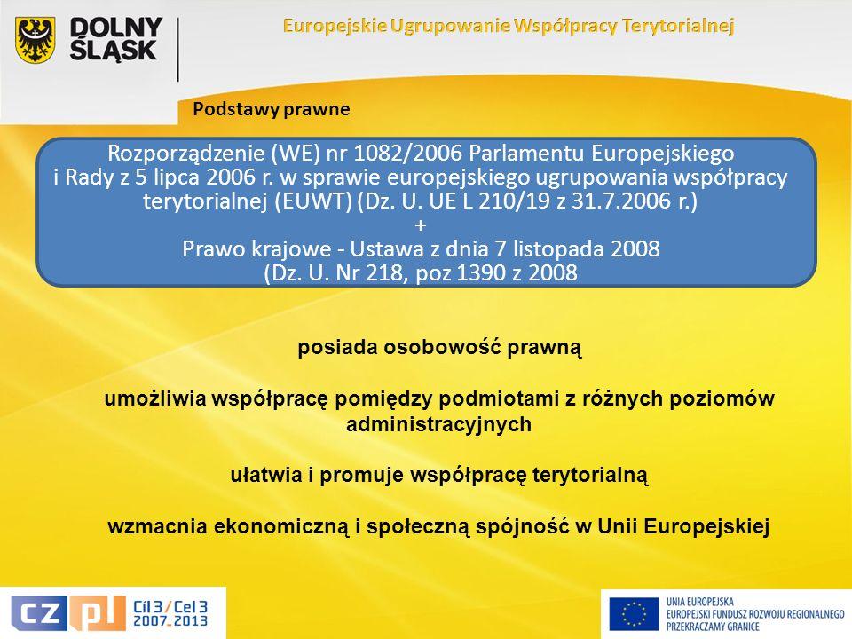 4 Podstawy prawne Rozporządzenie (WE) nr 1082/2006 Parlamentu Europejskiego i Rady z 5 lipca 2006 r.