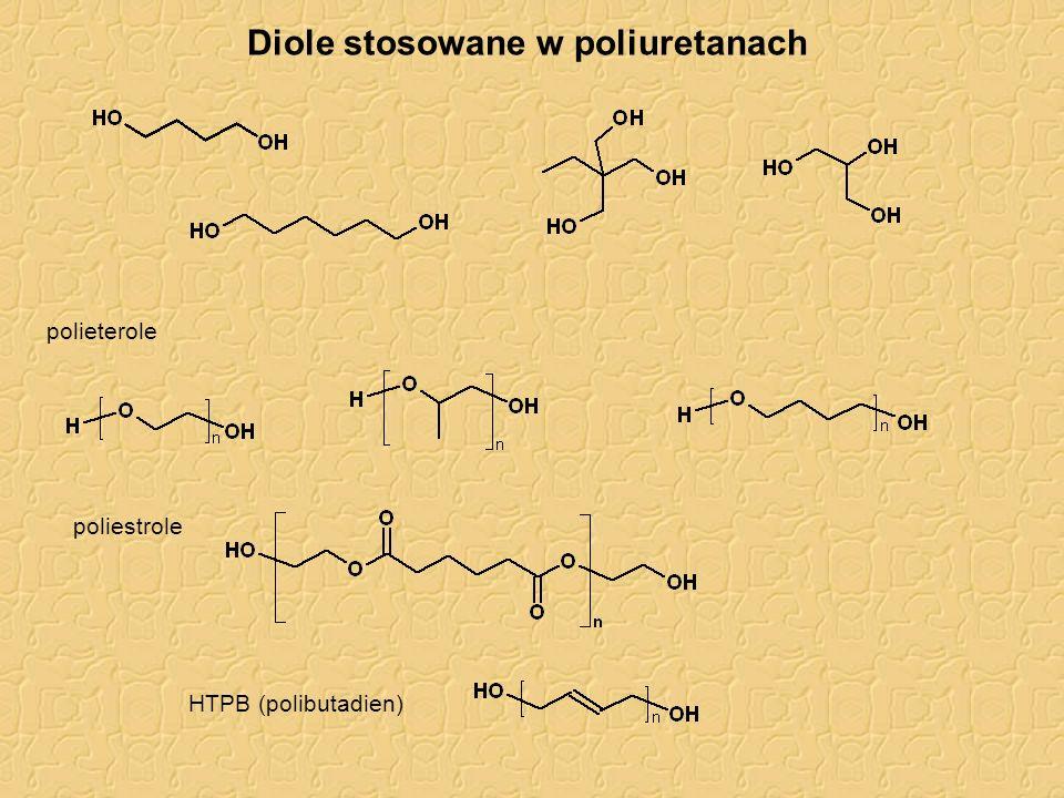 Diole stosowane w poliuretanach polieterole poliestrole HTPB (polibutadien)