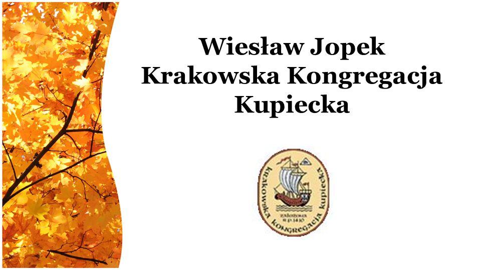 Wiesław Jopek Krakowska Kongregacja Kupiecka