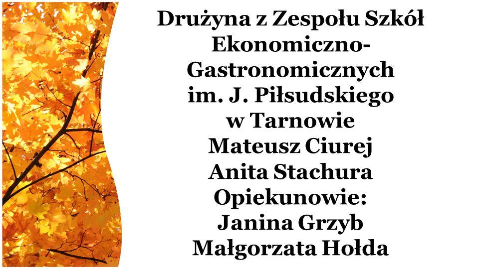 Drużyna z Zespołu Szkół Ekonomiczno- Gastronomicznych im.