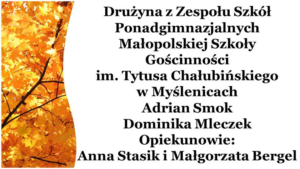 Drużyna z Zespołu Szkół Ponadgimnazjalnych Małopolskiej Szkoły Gościnności im.