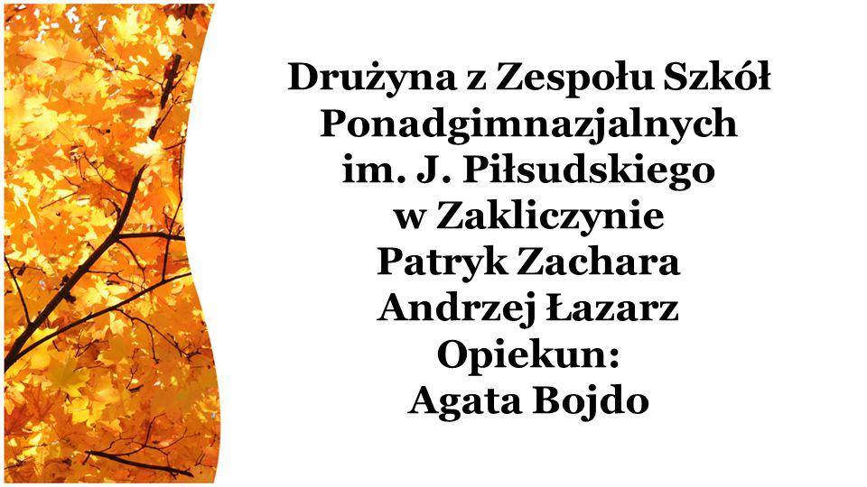 Drużyna z Zespołu Szkół Ponadgimnazjalnych im. J.