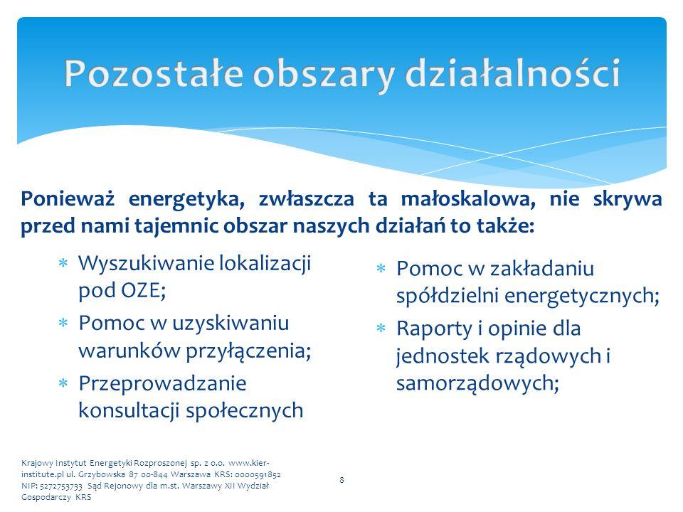 Krajowy Instytut Energetyki Rozproszonej sp. z o.o. www.kier- institute.pl ul. Grzybowska 87 00-844 Warszawa KRS: 0000591852 NIP: 5272753733 Sąd Rejon