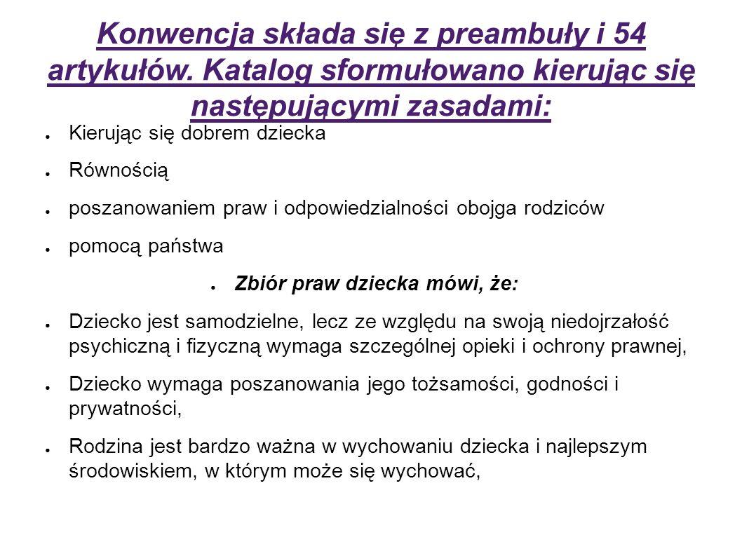 Konwencja składa się z preambuły i 54 artykułów.