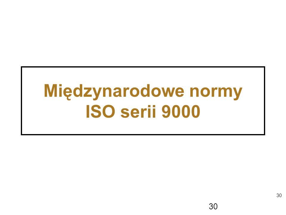 30 Międzynarodowe normy ISO serii 9000