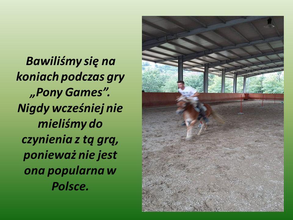 """Bawiliśmy się na koniach podczas gry """"Pony Games ."""
