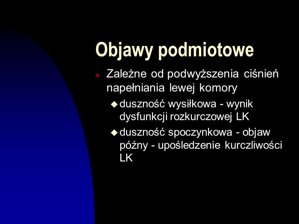 Objawy przedmiotowe n Niska amplituda tętna obwodowego (pulsus parvus et tardus) n Szmer skurczowy o charakterze wyrzutowym