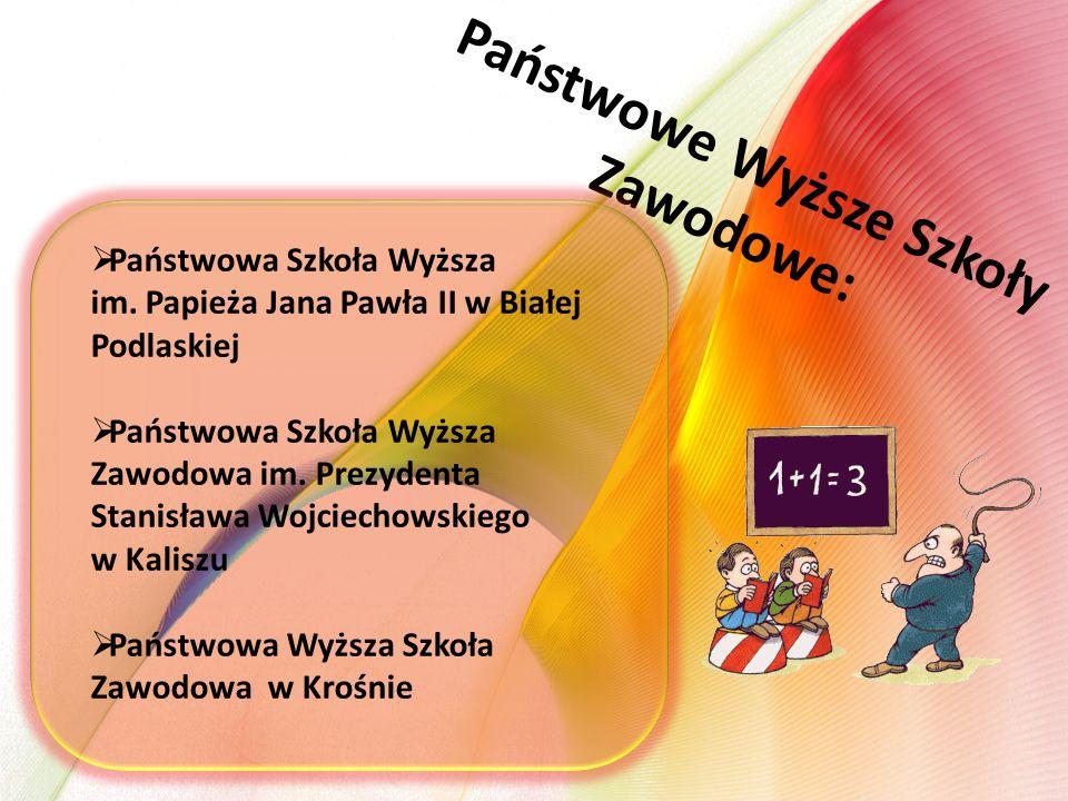 Państwowe Wyższe Szkoły Zawodowe:  Państwowa Szkoła Wyższa im.