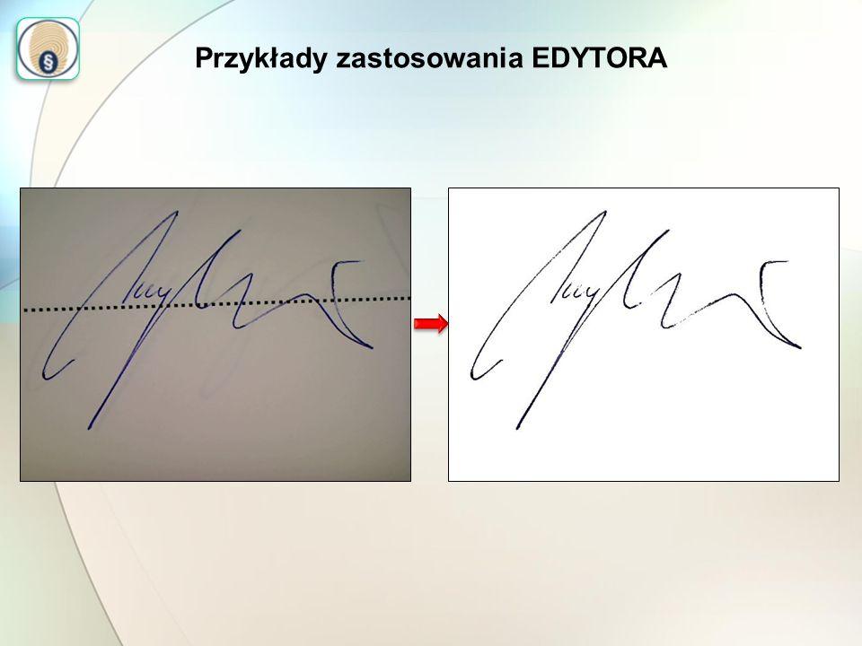 Przykłady zastosowania EDYTORA