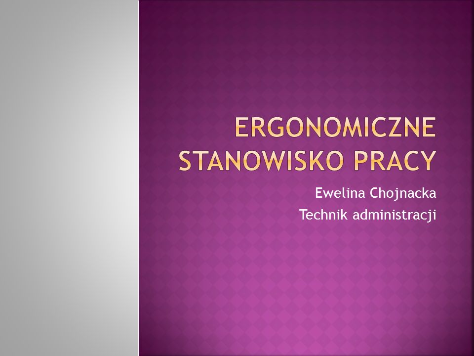Ewelina Chojnacka Technik administracji