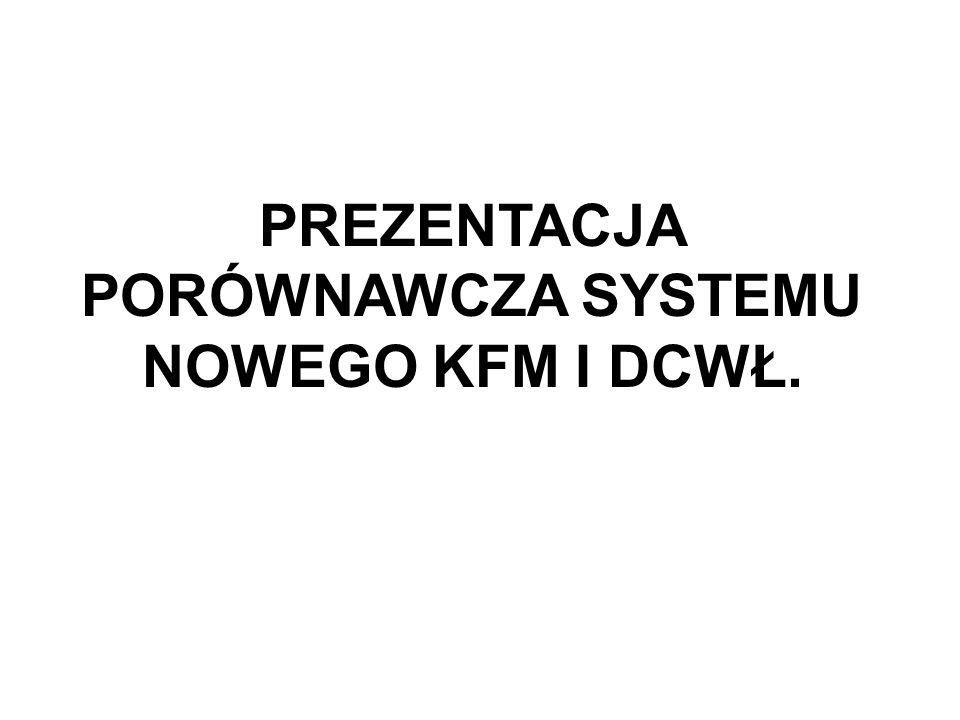 PREZENTACJA PORÓWNAWCZA SYSTEMU NOWEGO KFM I DCWŁ.