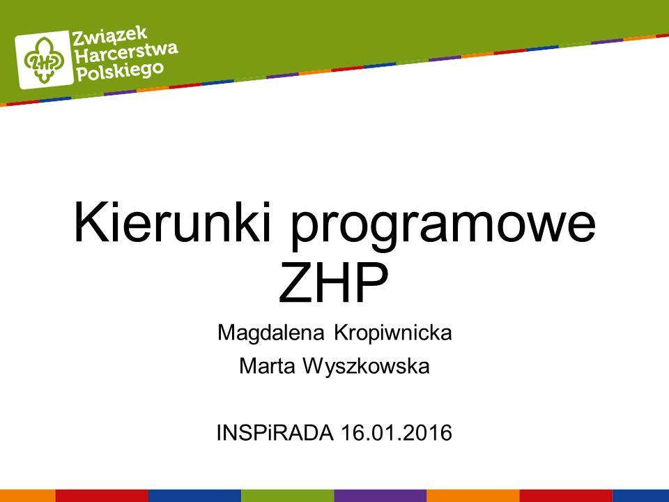 Kierunki programowe ZHP Magdalena Kropiwnicka Marta Wyszkowska INSPiRADA 16.01.2016