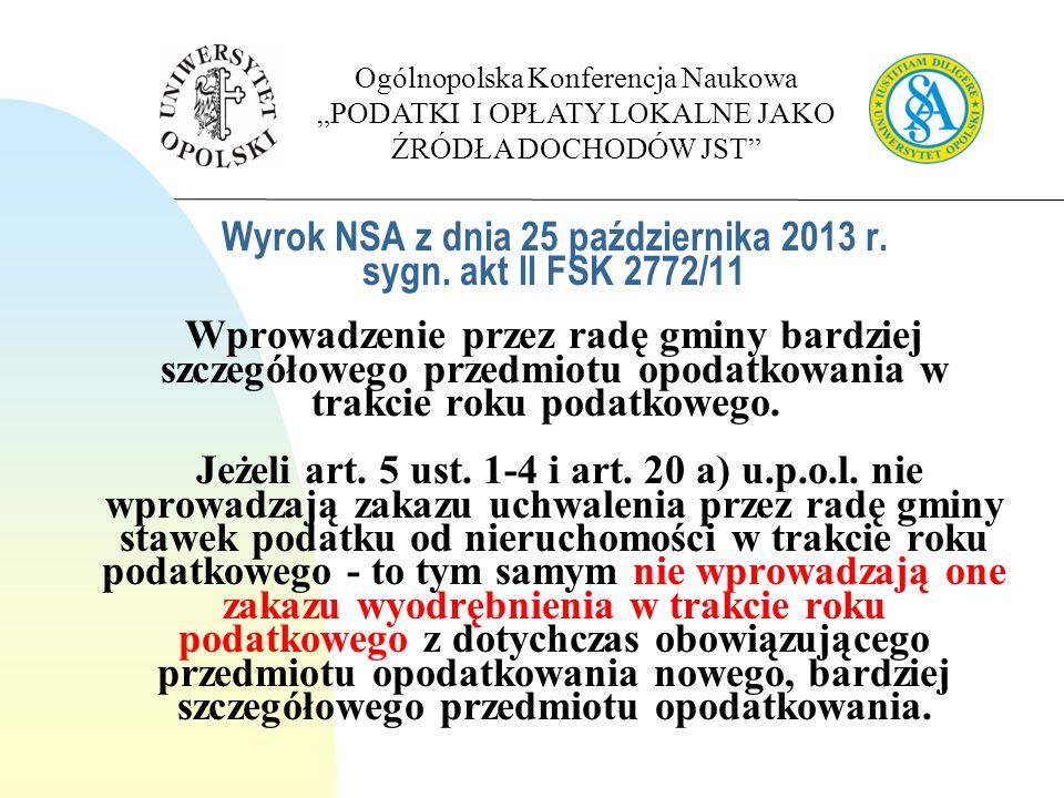 Wyrok WSA w Opolu z dnia 17 października 2012 r.sygn.