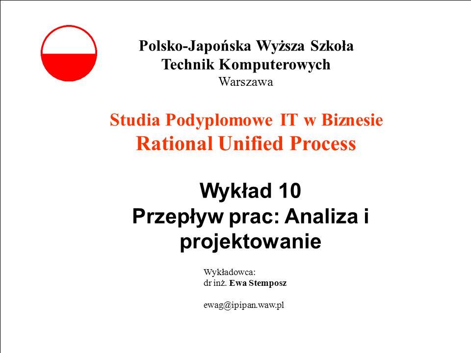 E. Stemposz. Rational Unified Process, Wykład 10, Slajd 1 wrzesień 2002 Powrót Studia Podyplomowe IT w Biznesie Rational Unified Process Wykład 10 Prz