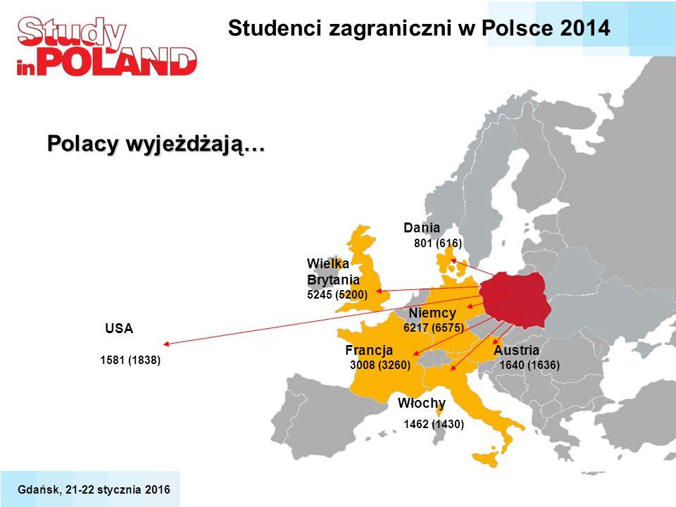 3008 (3260) Francja 6217 (6575) 801 (616) Dania Wielka Brytania 5245 (5200) USA 1581 (1838) Niemcy 1462 (1430) Włochy Austria 1640 (1636) Polacy wyjeż