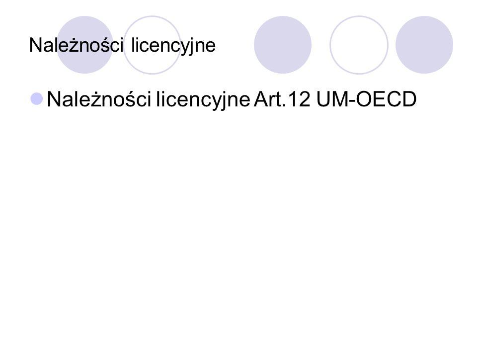 Należności licencyjne Art.12 UM-OECD
