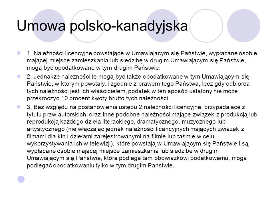 Umowa polsko-kanadyjska 1.