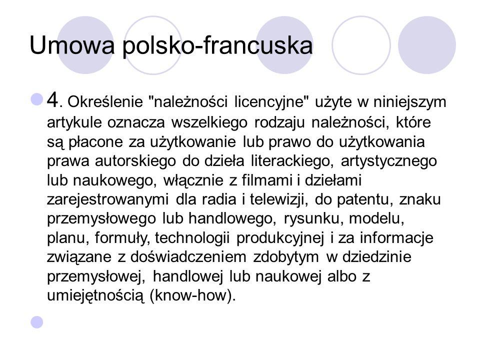 Umowa polsko-francuska 4.