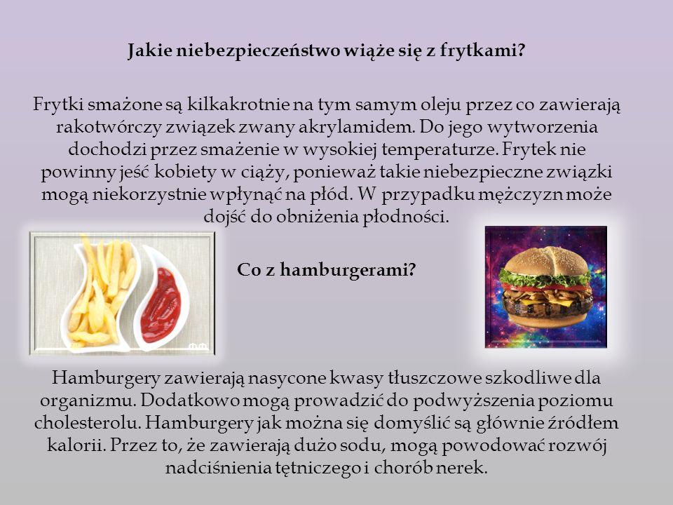 Jakie choroby mogą się wiązać ze spożywaniem żywności fast-food.