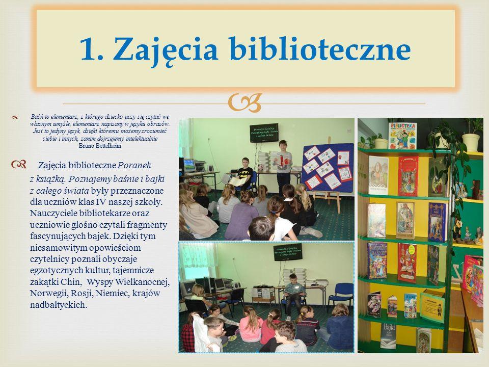 W naszej bibliotece szkolnej - Książkolandii działa Koło Przyjaciół Biblioteki oraz Koło Miłośników Poezji.