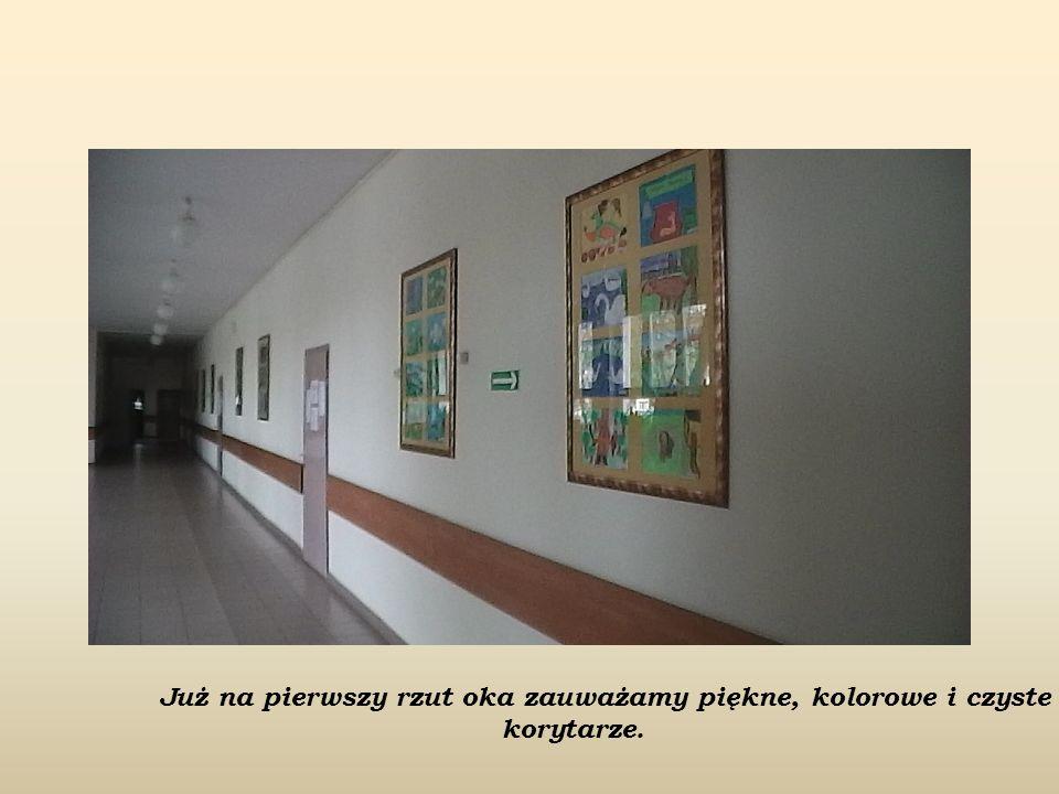 Już na pierwszy rzut oka zauważamy piękne, kolorowe i czyste korytarze.