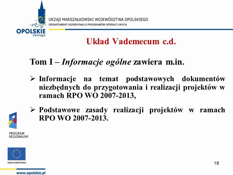 Tom I – Informacje ogólne zawiera m.in.