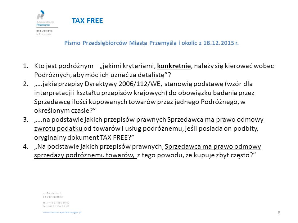 TAX FREE Art.147 dyrektywy 2006/112 Art.