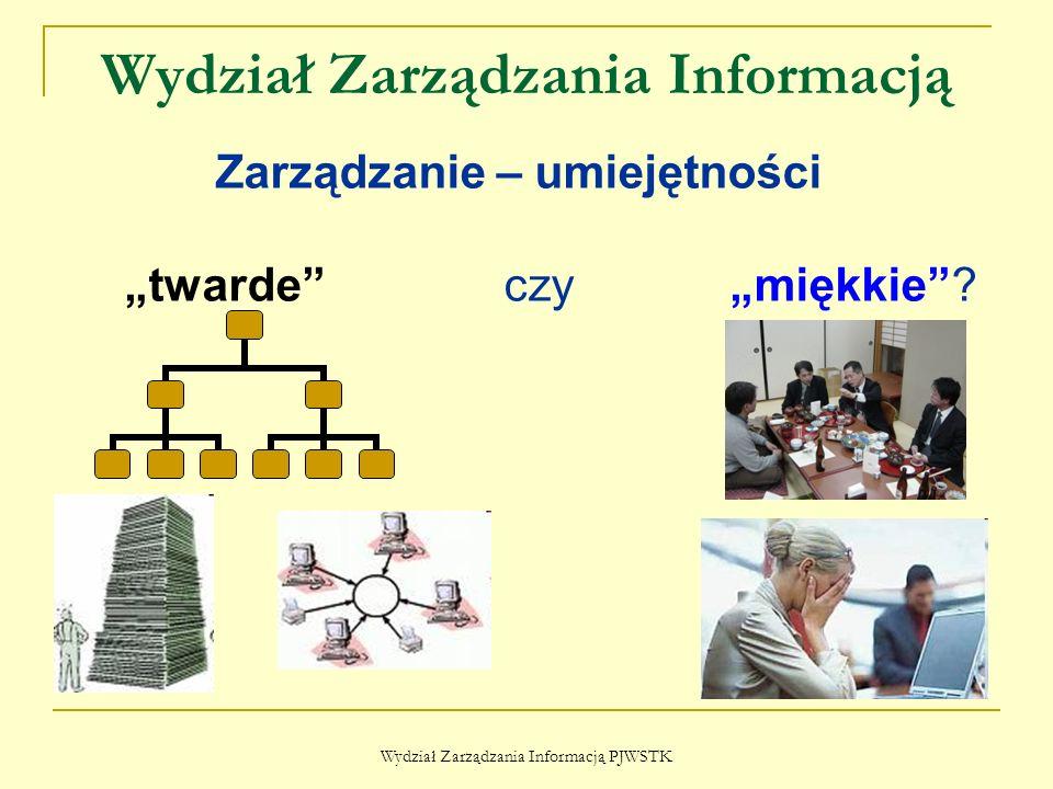 """Wydział Zarządzania Informacją Wydział Zarządzania Informacją PJWSTK Zarządzanie – umiejętności """"twarde czy """"miękkie ?"""