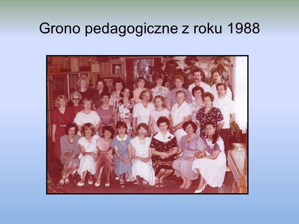 Grono pedagogiczne z roku 1988