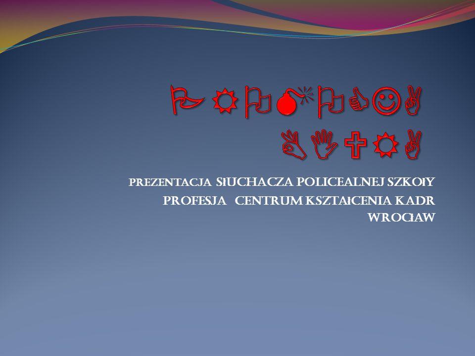 Prezentacja s ł uchacza policealnej szko ł y Profesja centrum kszta ł cenia kadr Wroc ł aw