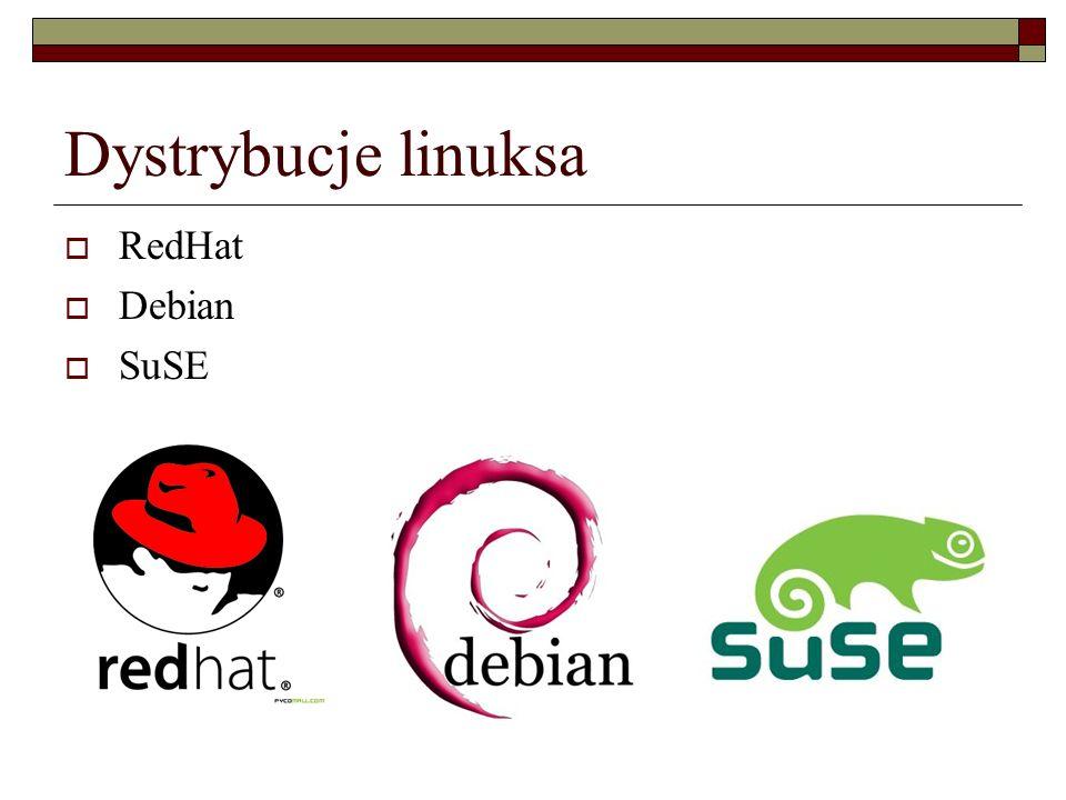 Dystrybucje linuksa  RedHat  Debian  SuSE